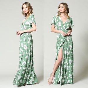 🌿 Serendipity Garden Wrap Maxi Dress